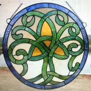 Celtic Tree Of Life Stained Glass Window Bridgets Of Erin